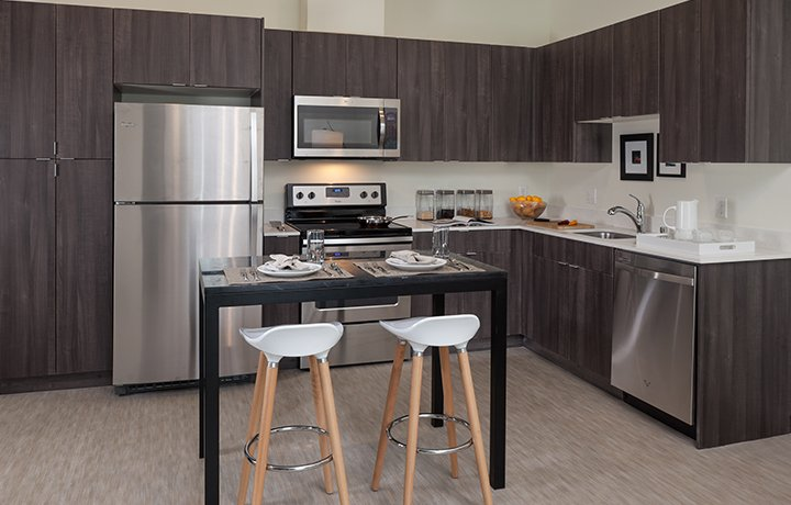 Maintenance Free Quartz Countertops And Brand New Appliances U0026 Utilities  Will Let You Prepare Meals With Ease And Style.